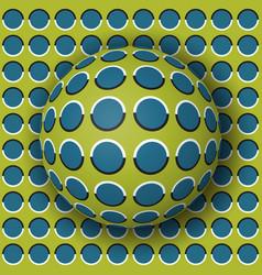 polka dot ball rolling along the polka dot surface vector image