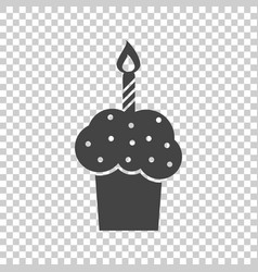 birthday cake flat icon fresh pie muffin on vector image vector image