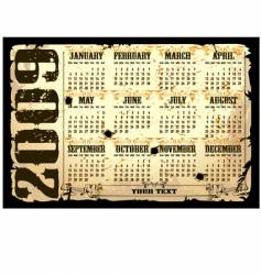 calender of 2009 starts sunday vector image vector image