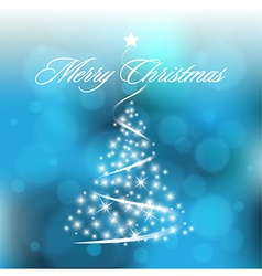 Christmas Blurry Background with Circles vector image vector image