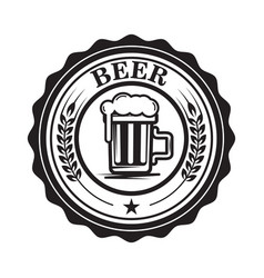 emblem with beer mug design element for logo vector image vector image