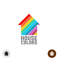 House paint logo vector image vector image