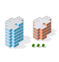 isometric 3d landscape of the city top view of vector image vector image