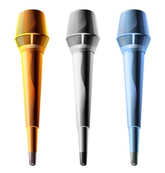 Microphone on a white background vector image