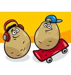 new potatoes cartoon vector image vector image