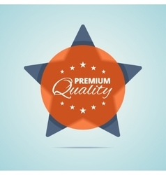 Premium quality badge vector image vector image