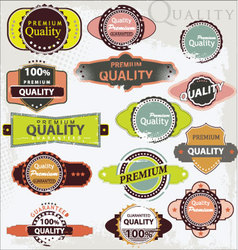 retro label style collection - grunge set vector image vector image