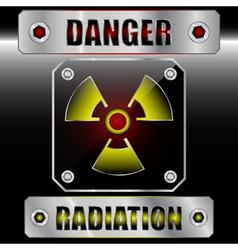 Set symbols radioactive danger vector image