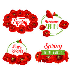 spring flowers bunches for greeting quotes vector image vector image
