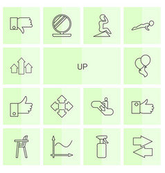 14 up icons vector image