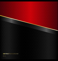 abstract diagonal black and red template vector image