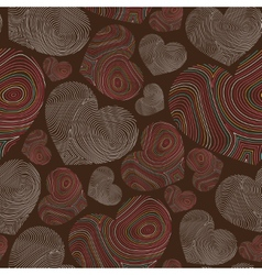 abstract seamless pattern with hand-drawn hearts vector image