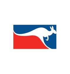 australian kangaroo logo icon sign element vector image