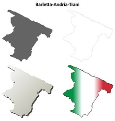 Barletta-andria-trani blank outline map set vector