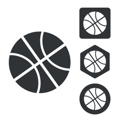 Basketball icon set monochrome vector