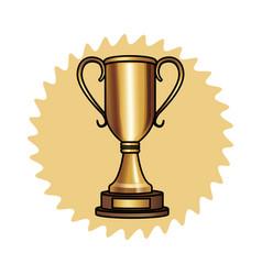 Big trophy icon vector
