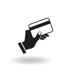 black and white flat icon hand holding credit vector image