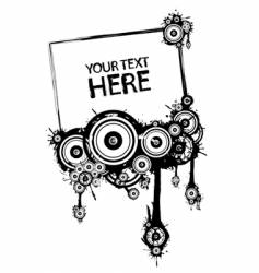 black and white grunge frame vector image