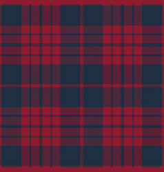blue and red tartan plaid seamless pattern vector image