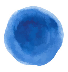 blue rough watercolor circle spot banner vector image