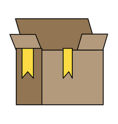 Box package object open design vector