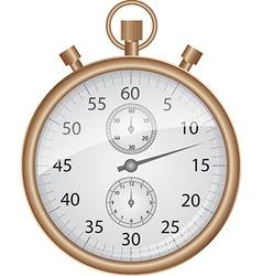 Bronze stopwatch vector
