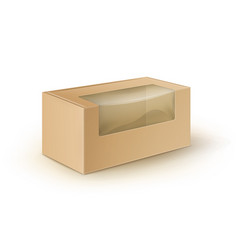 brown blank cardboard rectangle take away vector image