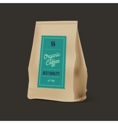Brown Paper Food Bag Package Of Coffee vector image