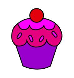 cake icon isolated on white background vector image
