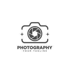 Camera photography logo design template vector