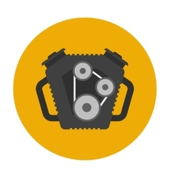 Car engine flat icon vector