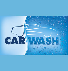 Car wash concept with many water drops vector