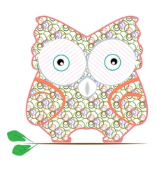 cartoon owl pattern vector image