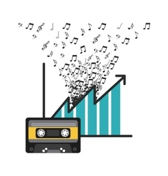 cassete and music design vector image