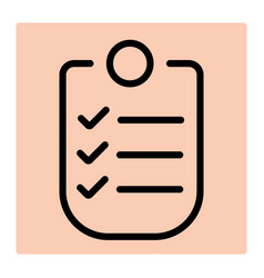 check list line icon for logistic company vector image
