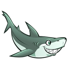 cheerful shark vector image