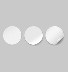 circle adhesive symbols vector image