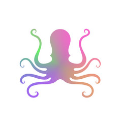 colorful octopus icon on white background vector image