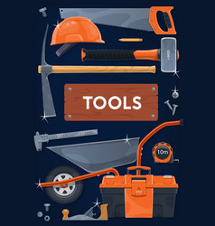 construction building and repair tools vector image