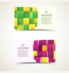 cubes colorful banners vector image