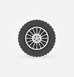 Custom car wheel flat icon vector