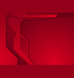 dark red abstract futuristic technology background vector image