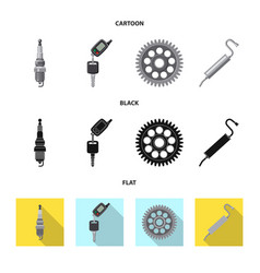 Design of auto and part logo collection of vector