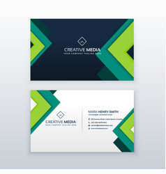 elegant business card design for your profession vector image