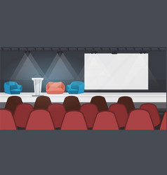 empty nobody conference hall with furniture modern vector image