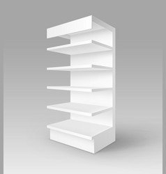 Exhibition trade stand rack with shelves vector