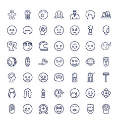Face icons vector