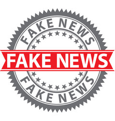 Fake news sign fake news badge vector