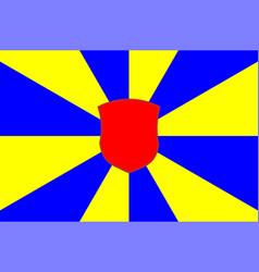 Flag of west flanders in belgium vector