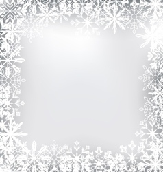 Frozen frame made snowflakes for merry vector